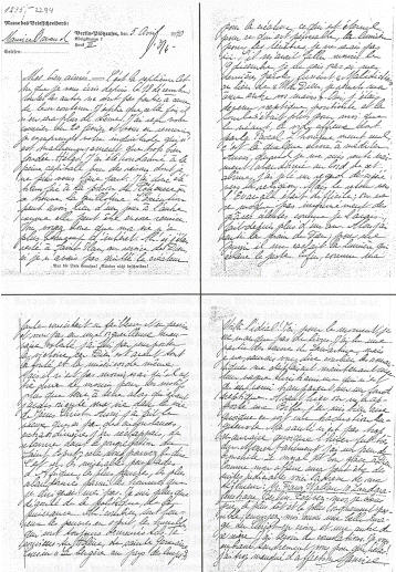 original letter of Maurice Bavaud during his imprisonment