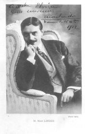 signed picture of Max Linder from 1912